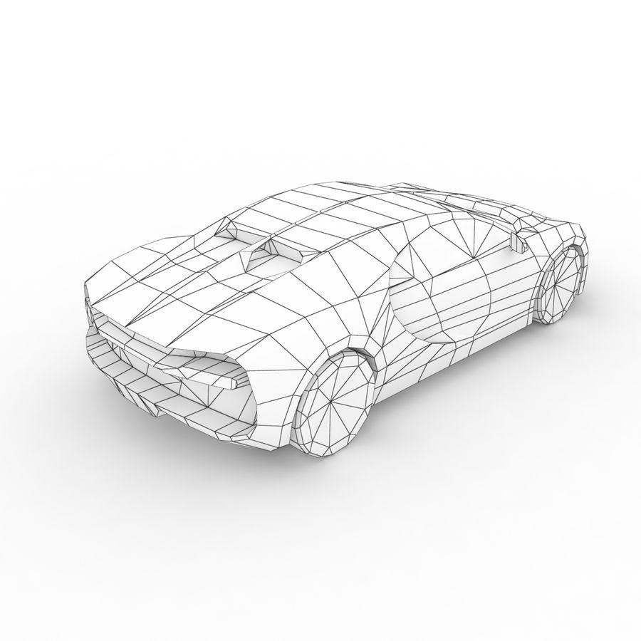 Bugatti Chiron 2016 royalty-free 3d model - Preview no. 8
