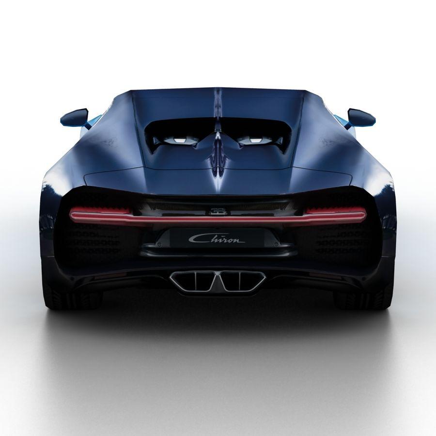 Bugatti Chiron 2016 royalty-free 3d model - Preview no. 5