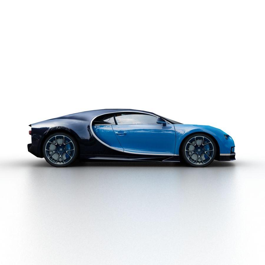 Bugatti Chiron 2016 royalty-free 3d model - Preview no. 3