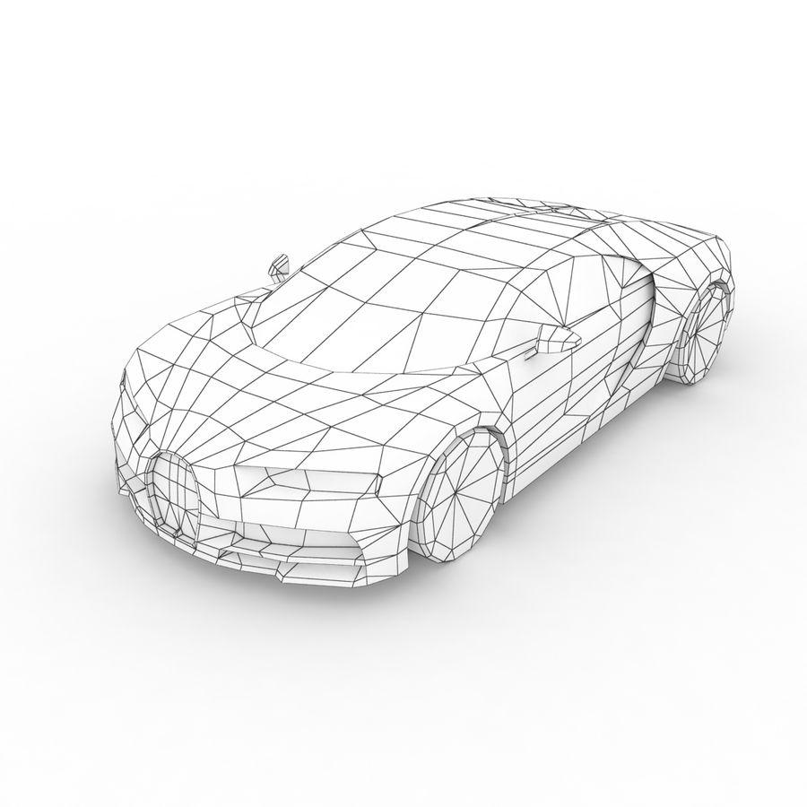 Bugatti Chiron 2016 royalty-free 3d model - Preview no. 7