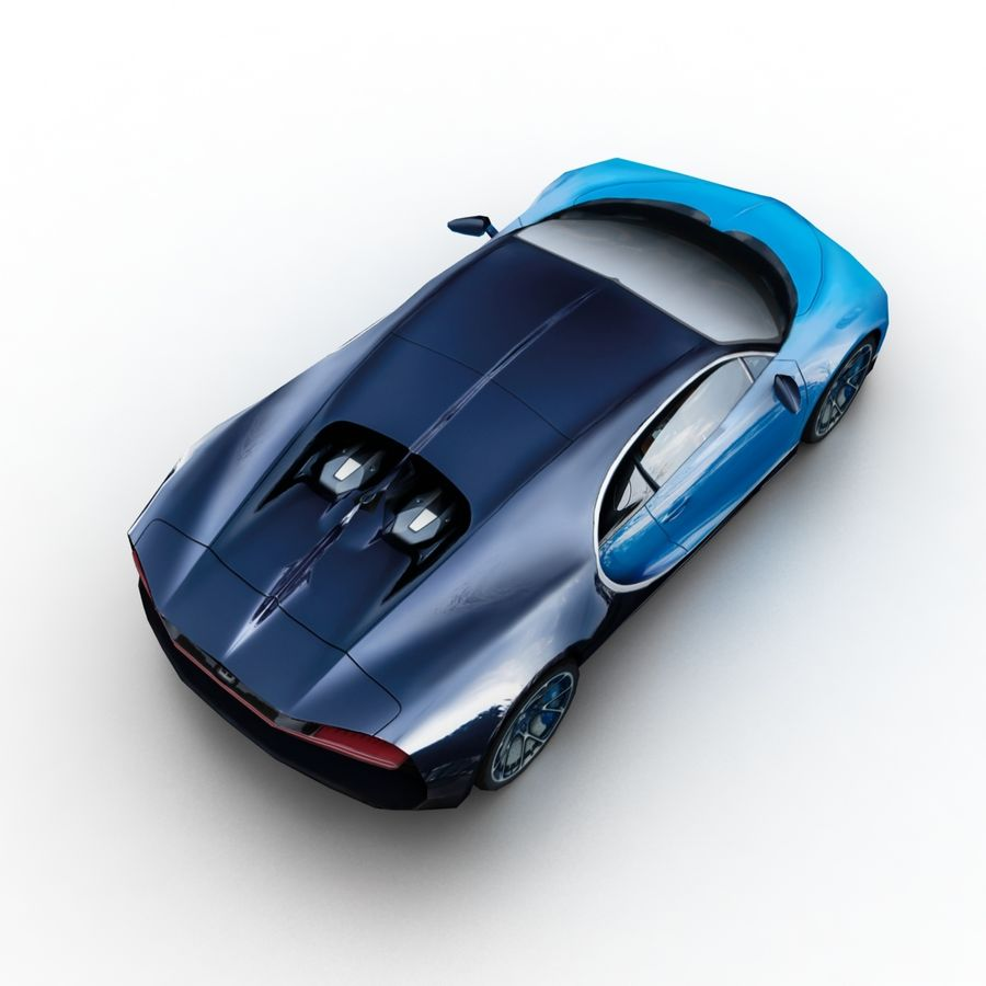 Bugatti Chiron 2016 royalty-free 3d model - Preview no. 6