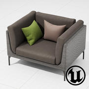 Dedon Mu Chair 001 UE4 3d model