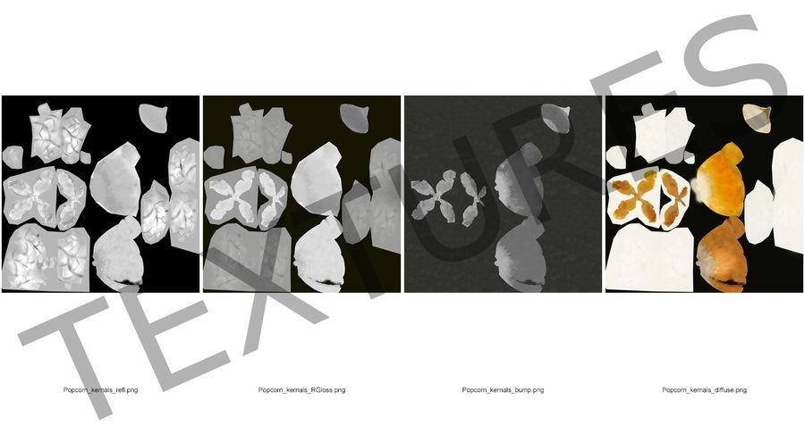 Popcorn Evolution Set royalty-free 3d model - Preview no. 13