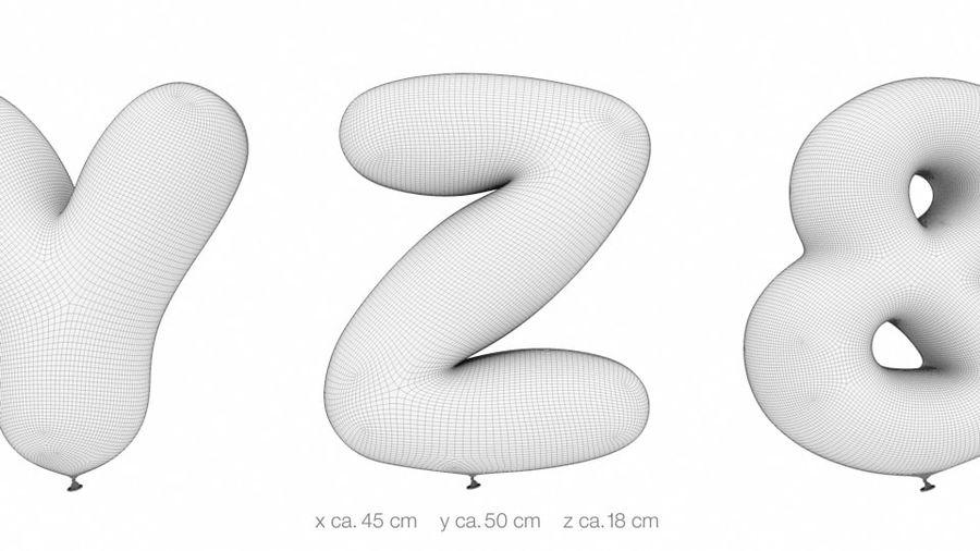 Alphabet ballon royalty-free 3d model - Preview no. 23
