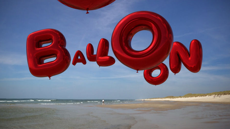 Alphabet ballon royalty-free 3d model - Preview no. 26