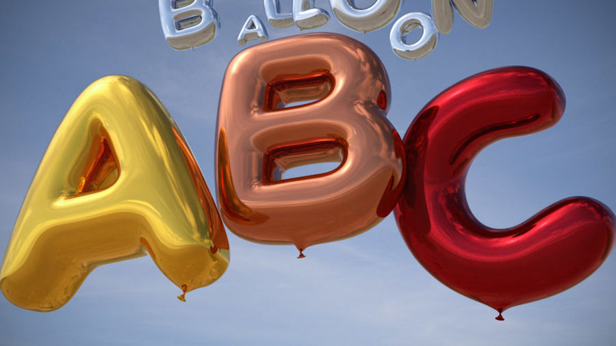 Alphabet ballon royalty-free 3d model - Preview no. 4