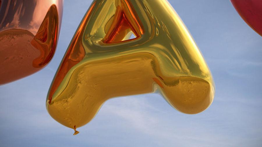 Alphabet ballon royalty-free 3d model - Preview no. 6