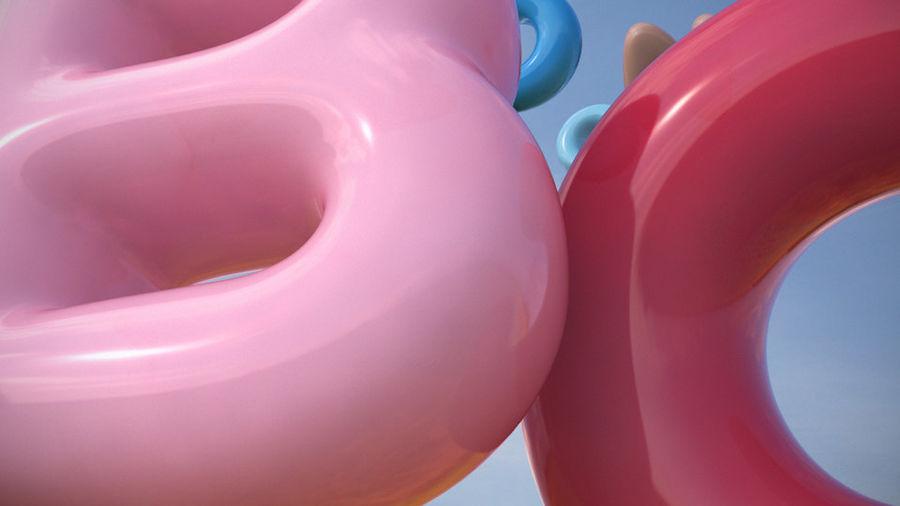 Alphabet ballon royalty-free 3d model - Preview no. 7