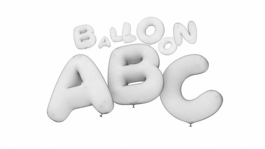 Alphabet ballon royalty-free 3d model - Preview no. 17