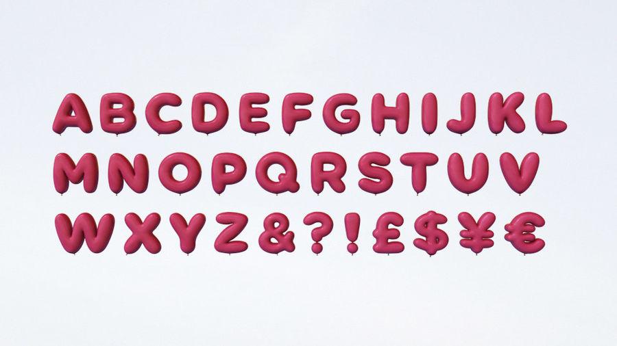 Alphabet ballon royalty-free 3d model - Preview no. 11