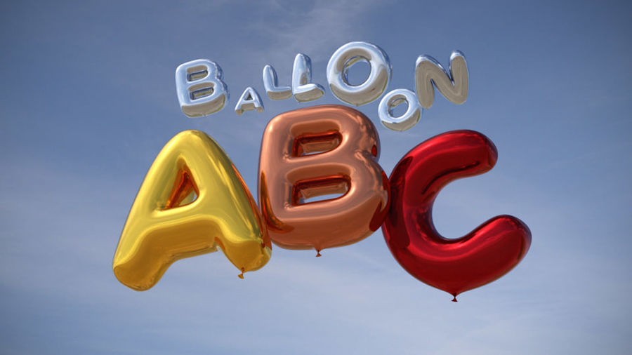 Alphabet ballon royalty-free 3d model - Preview no. 2
