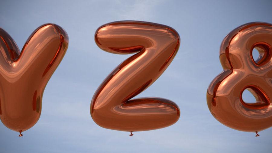 Alphabet ballon royalty-free 3d model - Preview no. 14