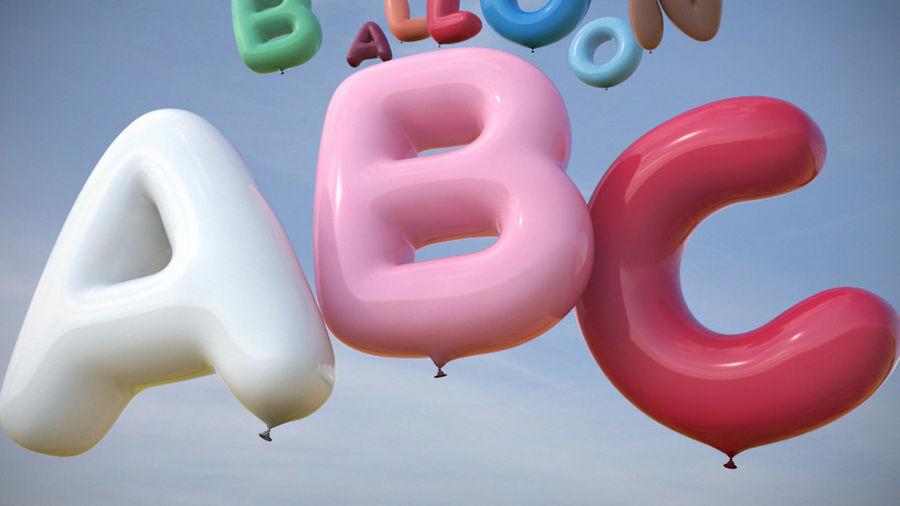 Alphabet ballon royalty-free 3d model - Preview no. 3
