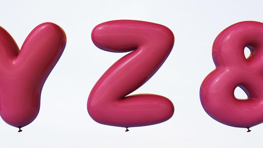 Alphabet ballon royalty-free 3d model - Preview no. 13