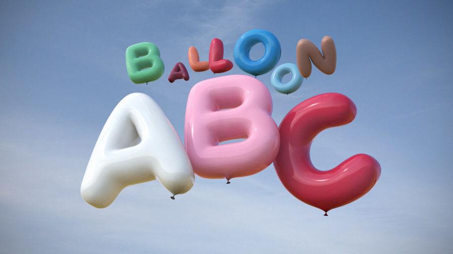 Alphabet ballon royalty-free 3d model - Preview no. 1