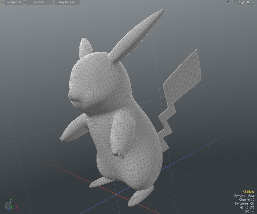Pikachu Pokemon royalty-free 3d model - Preview no. 5