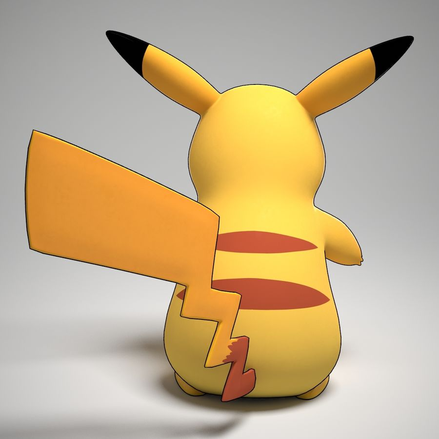 Pikachu Pokemon royalty-free 3d model - Preview no. 2
