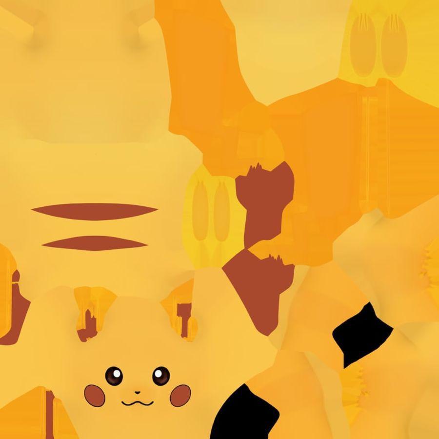 Pikachu Pokemon royalty-free 3d model - Preview no. 10