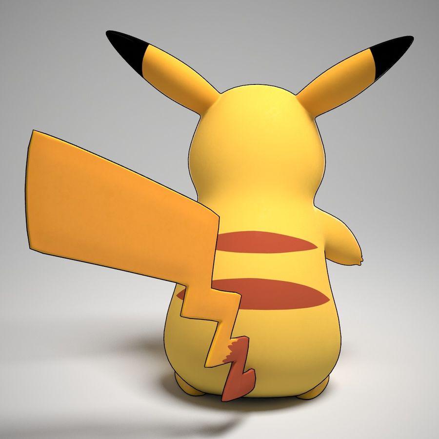 Pikachu Pokemon royalty-free 3d model - Preview no. 2