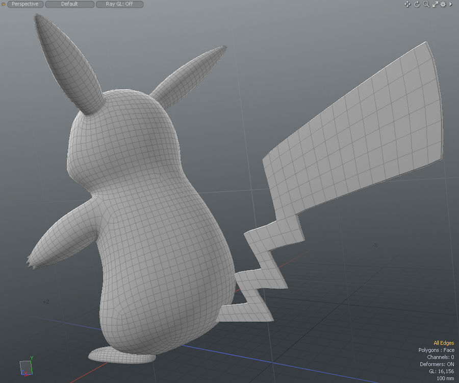 Pikachu Pokemon royalty-free 3d model - Preview no. 4