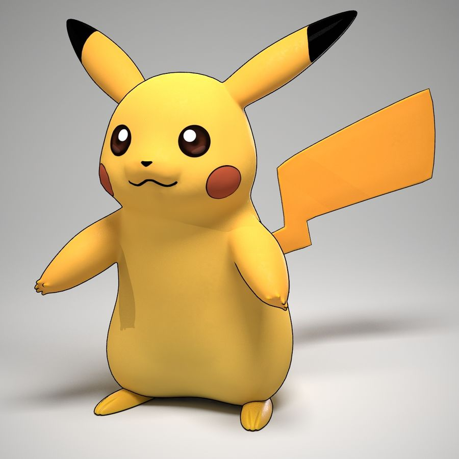 Pikachu Pokemon royalty-free 3d model - Preview no. 3