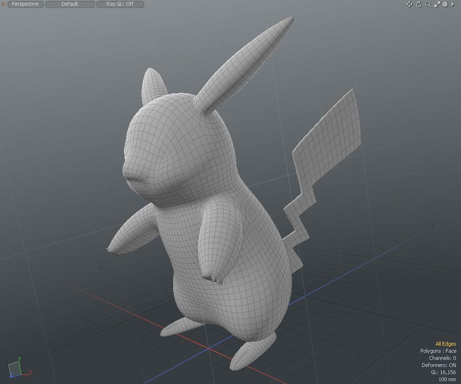 Pikachu Pokemon royalty-free 3d model - Preview no. 5