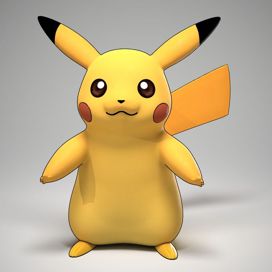 Pikachu Pokemon royalty-free 3d model - Preview no. 1