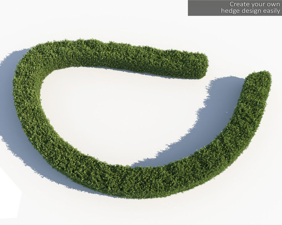 Scatterable Hedge royalty-free 3d model - Preview no. 8