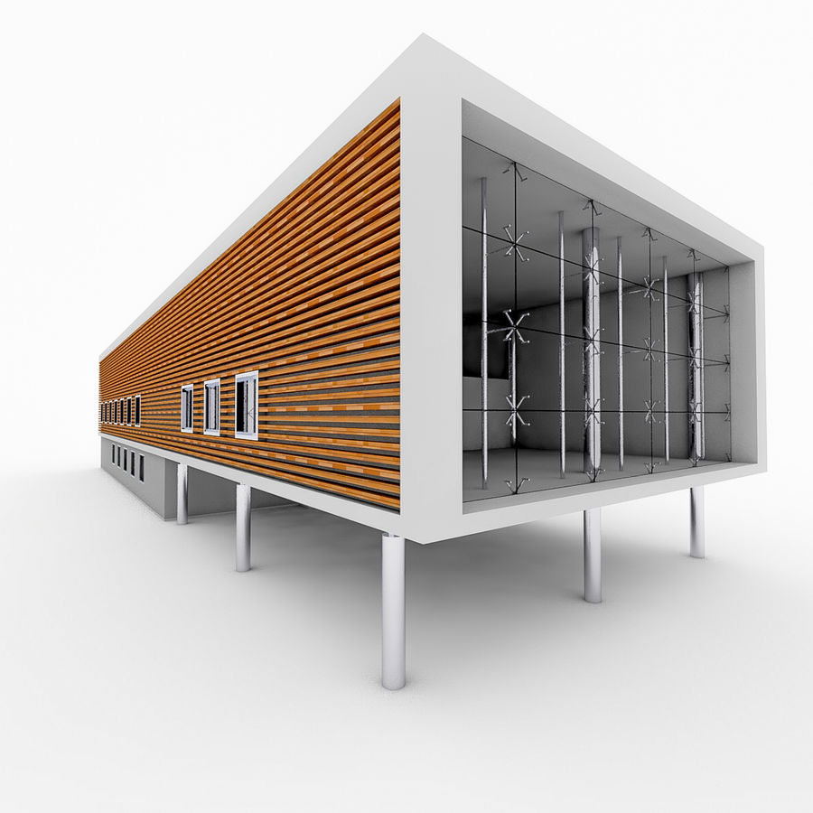 City Office Building 5 royalty-free 3d model - Preview no. 5