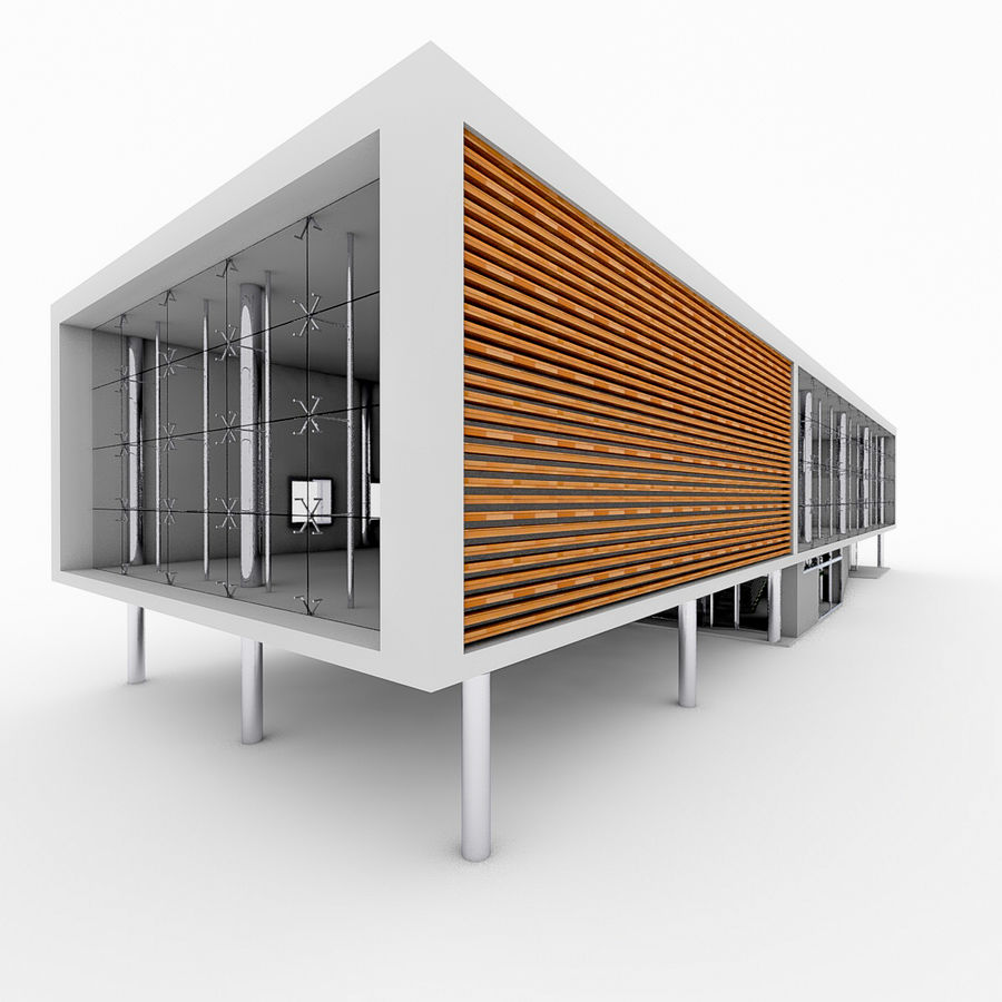 City Office Building 5 royalty-free 3d model - Preview no. 3