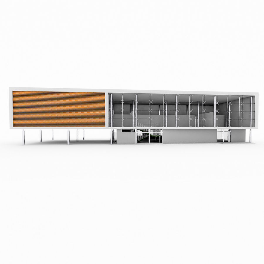 City Office Building 5 royalty-free 3d model - Preview no. 7