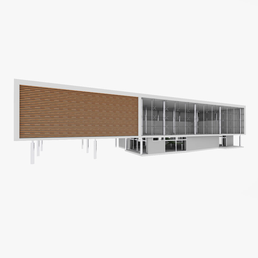 City Office Building 5 royalty-free 3d model - Preview no. 1