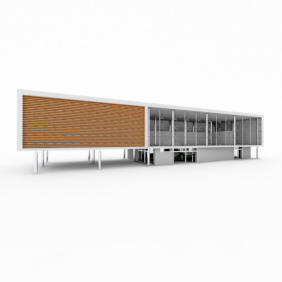 City Office Building 5 royalty-free 3d model - Preview no. 2