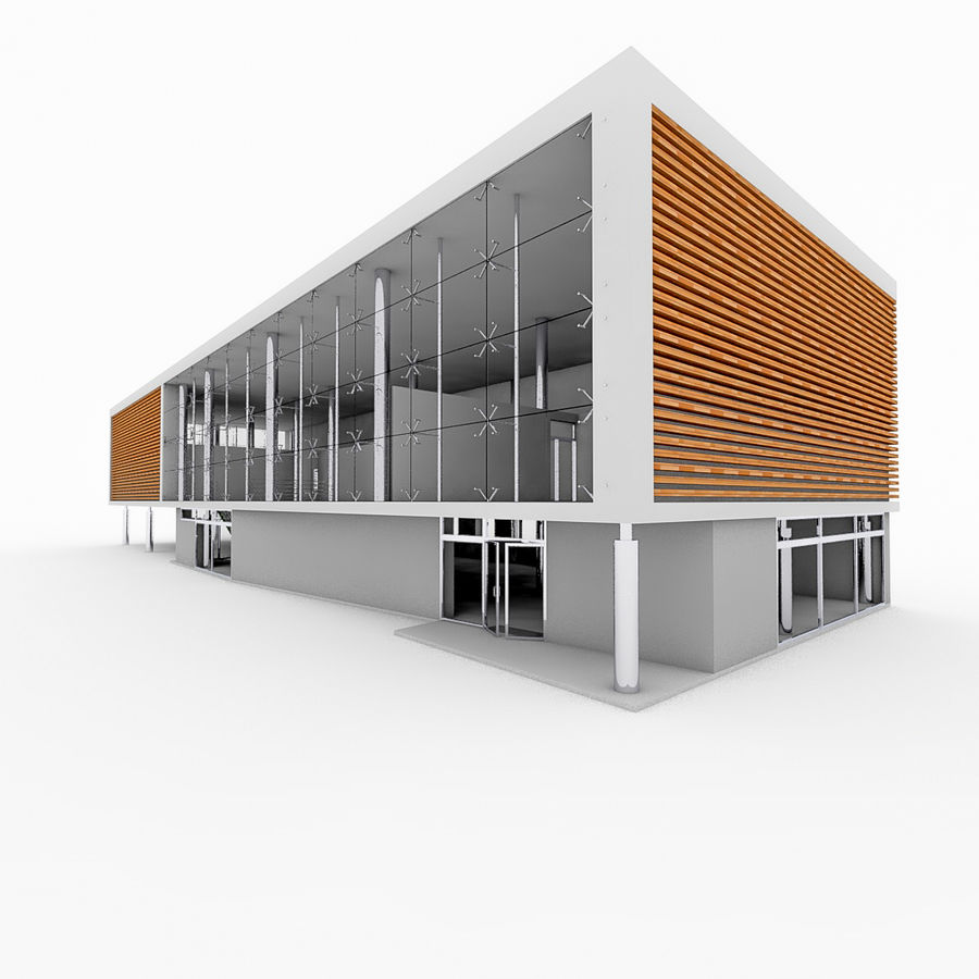 City Office Building 5 royalty-free 3d model - Preview no. 4