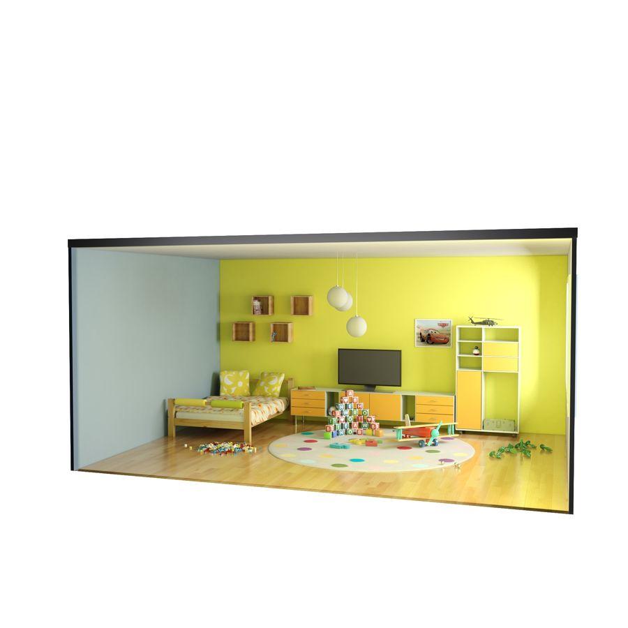Sypialnia dziecięca royalty-free 3d model - Preview no. 14