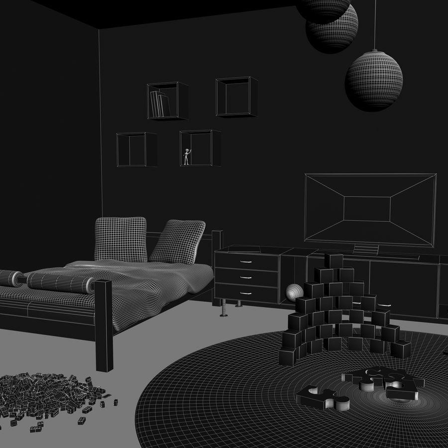 Sypialnia dziecięca royalty-free 3d model - Preview no. 18