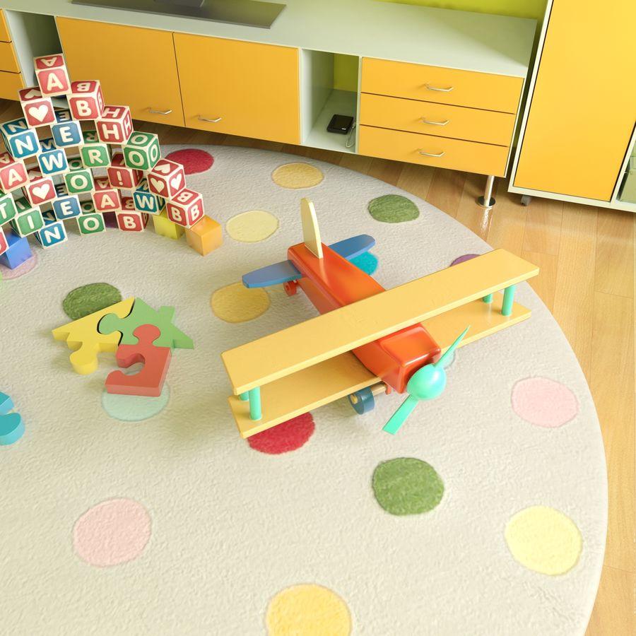 Sypialnia dziecięca royalty-free 3d model - Preview no. 3