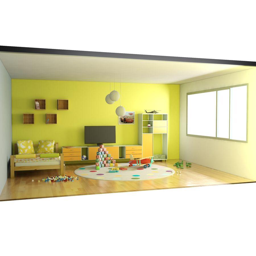 Sypialnia dziecięca royalty-free 3d model - Preview no. 13