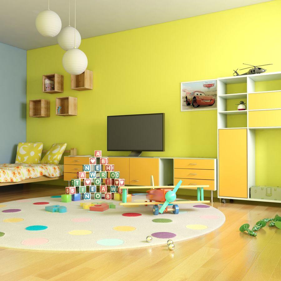 Sypialnia dziecięca royalty-free 3d model - Preview no. 12