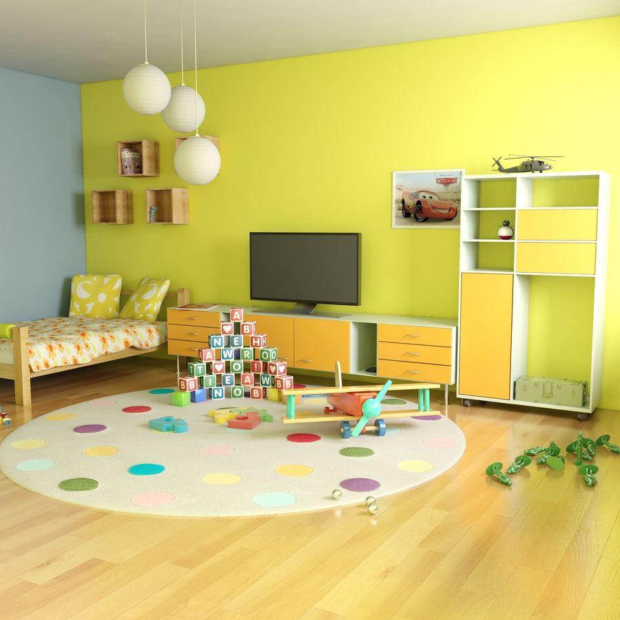 Sypialnia dziecięca royalty-free 3d model - Preview no. 1