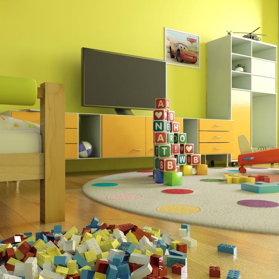 Sypialnia dziecięca royalty-free 3d model - Preview no. 7