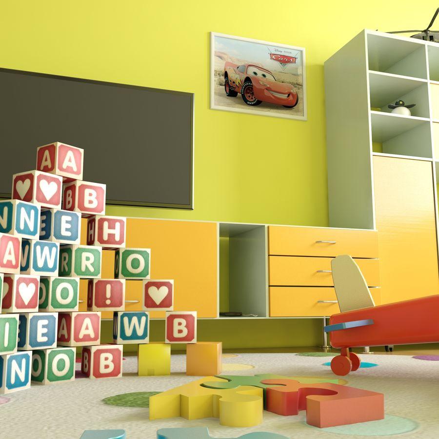 Sypialnia dziecięca royalty-free 3d model - Preview no. 9