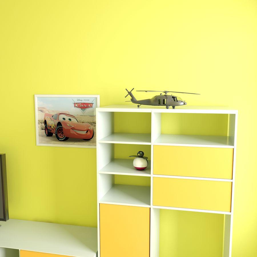 Sypialnia dziecięca royalty-free 3d model - Preview no. 8