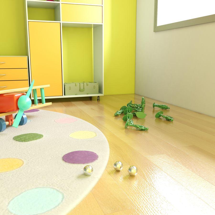 Sypialnia dziecięca royalty-free 3d model - Preview no. 2