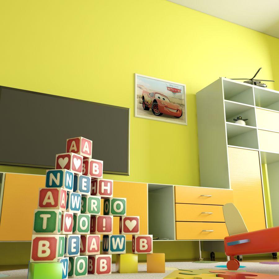 Sypialnia dziecięca royalty-free 3d model - Preview no. 5