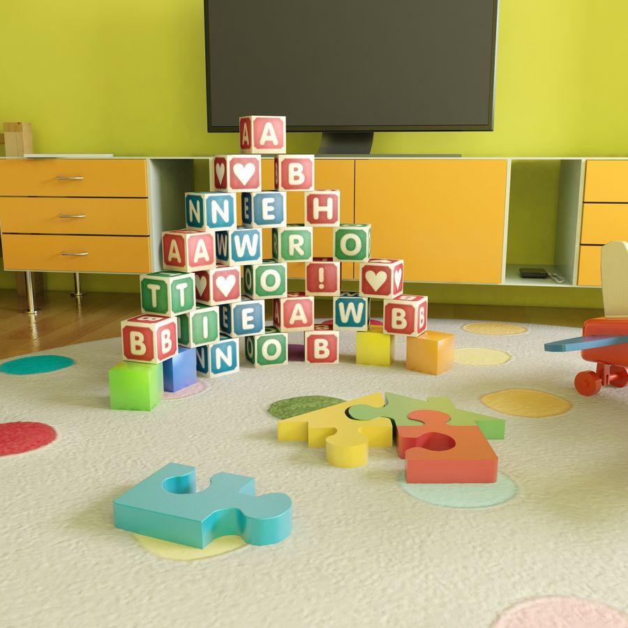 Sypialnia dziecięca royalty-free 3d model - Preview no. 4
