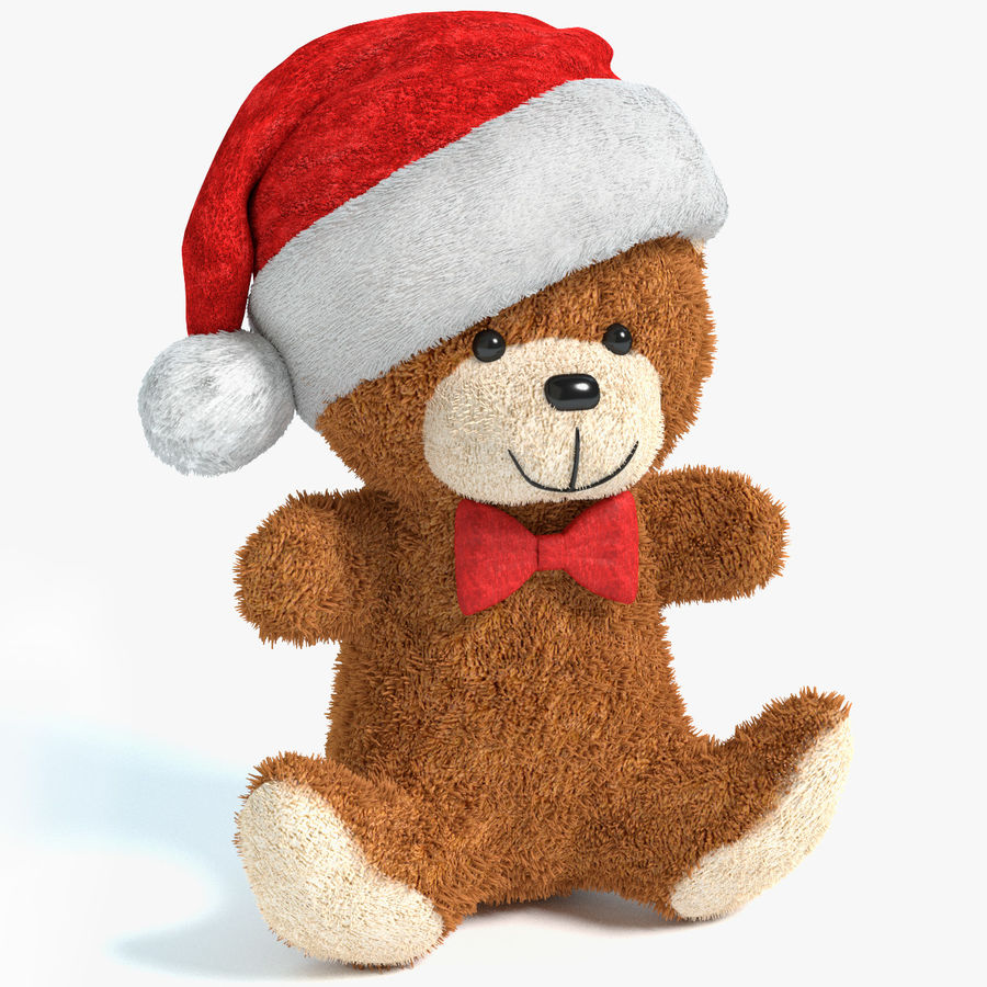 Christmas Bear 2 royalty-free 3d model - Preview no. 1