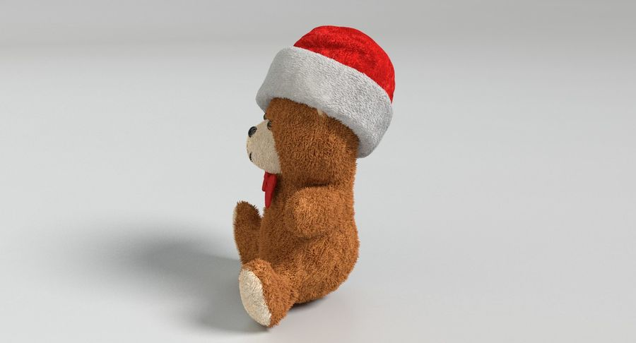 Christmas Bear 2 royalty-free 3d model - Preview no. 7