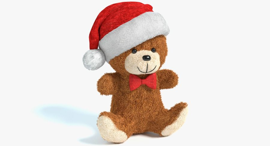 Christmas Bear 2 royalty-free 3d model - Preview no. 2