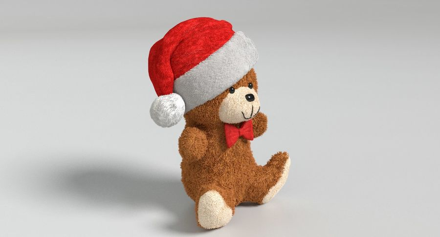 Christmas Bear 2 royalty-free 3d model - Preview no. 4